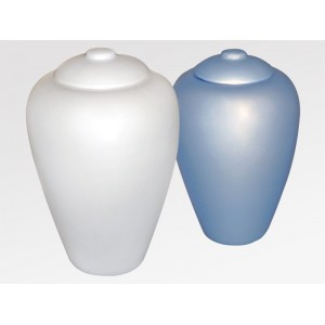 Sand and Gelatine Urn - Classic Pearl (L) and Classic Aqua Blue (R)